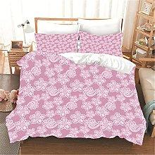 Copripiumino fiori rosa Biancheria da letto