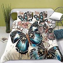Copripiumino Matrimoniale Farfalla beige Set di