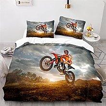 Copripiumino Motocross 3 Pezzi Set Di Biancheria