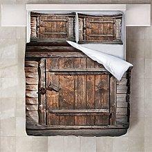 Copripiumino Porta di legno Biancheria da letto