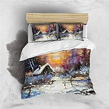 Copripiumino Scena di neve Biancheria da letto