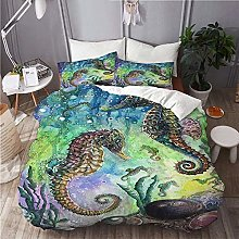 Copripiumino, Set Seahorse Under Water Set