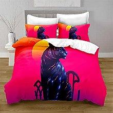 Copripiumino Singolo tigre rossa Reversibile