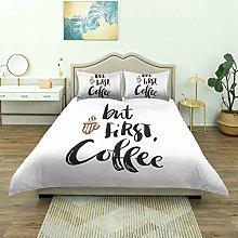 Copripiumino, stampa stile pennello da caffè, set