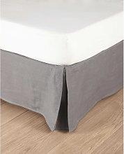 Coprirete 140 x 190 cm in lino slavato grigio medio