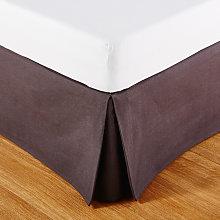 Coprirete 140x190 in cotone grigio antracite