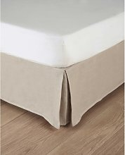 Coprirete 160 x 200 cm beige in cotone e in lino