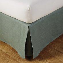 Coprirete 180x200 cm in lino lavato verde giada