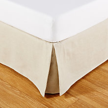Coprirete 90x190 in cotone e in lino beige