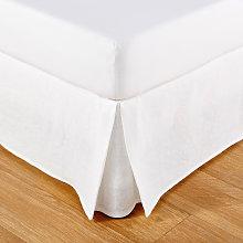 Coprirete 90x190 in cotone e in lino bianchi