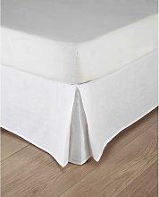 Coprirete bianco in lino slavato 180 x 200 cm