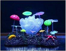 Corallo Fluorescente Erba Stella Funghi Ornamento