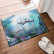 Corallo squalo decorativo marino Tappeto da bagno