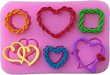 Corda Heart Love fondant silicone Mold