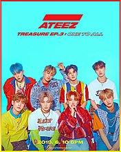 Corea del Sud Kpop Boy Group Ateez Kit per pittura