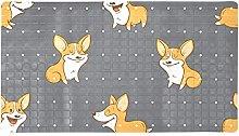 Corgi Dogs - Tappeto da bagno antiscivolo per