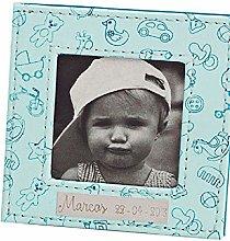 Cornice portafoto in pelle con motivo bebè e