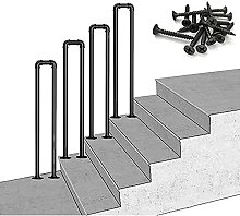 Corrimano di transizione per gradini in cemento