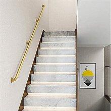 Corrimano moderno per ringhiera in oro per scale