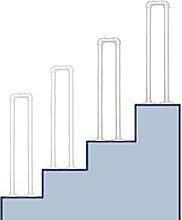 Corrimano per scale, a forma di U per scale a