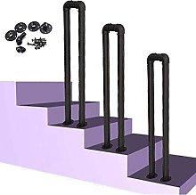 Corrimano per scale interne, ringhiera in ferro