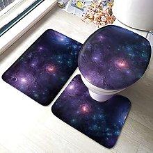 Cosmic Space - Tappeto da bagno antiscivolo, 3