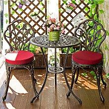 Costway 3 pezzi Set mobili da giardino Tavolino