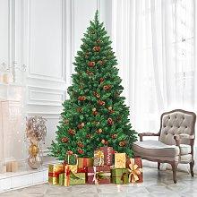 Costway Albero di Natale 200 cm 1100 rami, Abete