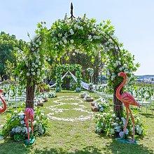 Costway Arco metallico per varie piante rampicanti