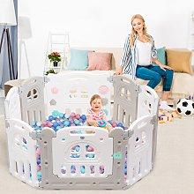 Costway Box pieghevole con 10 pannelli per bambini