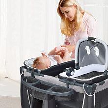 Costway Box portatile per bambini con culla e