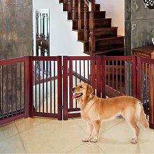 Costway Cancello di legno con 2 pannelli per cani