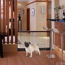 Costway Cancello di sicurezza in legno per animali