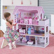Costway Casa delle bambole in legno per bambina
