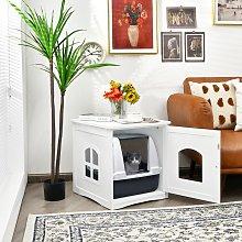 Costway Casetta decorativa per gatti e animali con