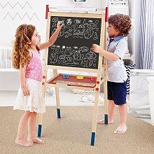 Costway Cavalletto per bambini 3 in 1 in legno con