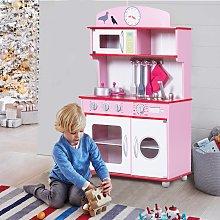 Costway Cucina giocattolo per bambini in legno con