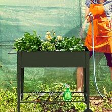 Costway Fioriera rialzata per giardino in acciaio