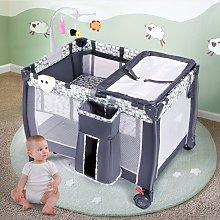 Costway Lettino pieghevole per neonati con