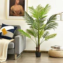 Costway Palma Phoenix artificiale 1,3m con vaso di