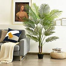 Costway Palma Phoenix artificiale 1,5m con vaso di