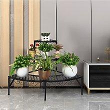 Costway Porta piante di metallo con 3 livelli per