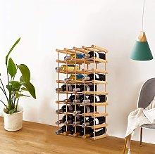 Costway Portabottiglie di vino in legno da 40
