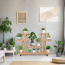 Costway Scaffale bonsai di legno per piante e
