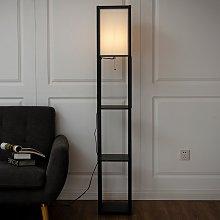 Costway Scaffale legno con lampada per salone