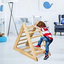Costway Scala triangolare di legno per bambini da