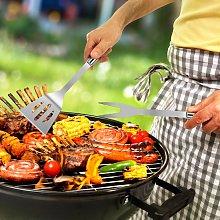 Costway Set con 6 utensili per barbecue in acciaio