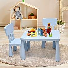 Costway Set con tavolo e 2 sedie per bambini, Set