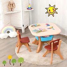 Costway Set con tavolo e sedie leggero per bambini