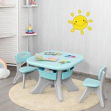 Costway Set con tavolo e sedie per bambini, Mobili